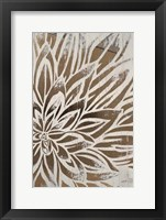 Barnwood Bloom II - Metallic Foil Framed Print