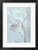 Metallic Tree I - Metallic Foil Framed Print