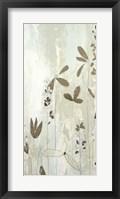 Framed Fresco Field II - Metallic Foil