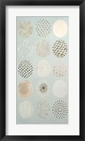 Playful Patterns I - Metallic Foil Framed Print