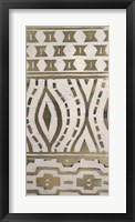 Tribal Pattern in Cream II - Metallic Foil Framed Print