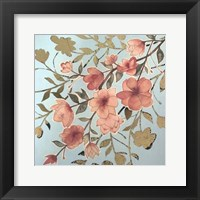 Golden Cherry Blossoms II - Metallic Foil Framed Print