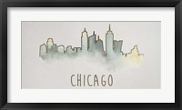 Goldleaf City Silhouette II - Metallic Foil Framed Print