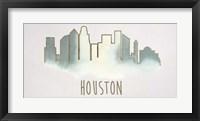 Goldleaf City Silhouette III - Metallic Foil Framed Print