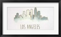 Goldleaf City Silhouette IV - Metallic Foil Framed Print