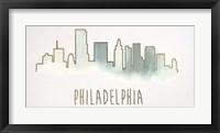 Goldleaf City Silhouette VI - Metallic Foil Framed Print