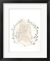Golden Woodland Vignette II - Metallic Foil Framed Print