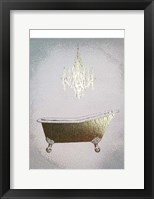 Gilded Bath I - Metallic Foil Framed Print