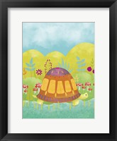 Happy Turtle I Framed Print