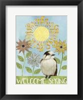 Spring Welcome I Framed Print