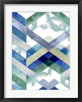 Crystal Chevron I Framed Print