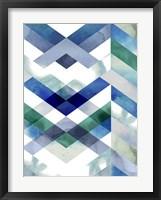Crystal Chevron II Framed Print
