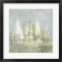 Treeline Collage I Framed Print