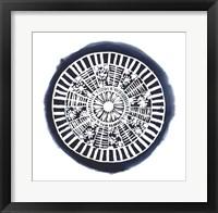 Navy Meridian I Framed Print