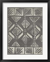 Mudcloth Patterns III Framed Print