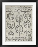 Mudcloth Patterns VIII Framed Print