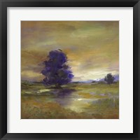Framed Purple Tree
