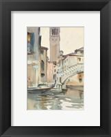 Framed Bridge and Campanile, Venice, 1902/04