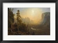 Framed Yosemite Valley, Glacier Point Trail, ca. 1873