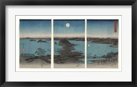 Framed Kanazawa in Moonlight, 7th month, 1857