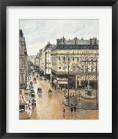 Framed Rue Saint-Honore in the Afternoon. Effect of Rain, 1897