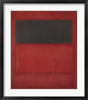 Framed Black over Reds [Black on Red], 1957