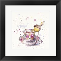 Framed Tea Time (Eastern Yellow Robin)