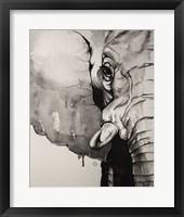 Framed Watercolor Elephant