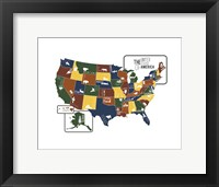 Framed USA Map