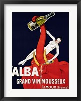 "Framed """"Alba"""" Grand Vin Mousseux, ca. 1928"