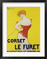 Framed Corset le Furet, 1901