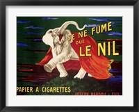 Framed Je ne Fume que Le Nil, 1912