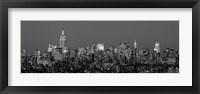 Framed Manhattan Skyline (detail)