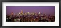 Framed Manhattan at Night