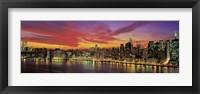 Framed Sunset Over New York (detail)