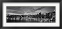 Framed Manhattan Dusk (detail)