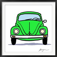 Framed Green Bug