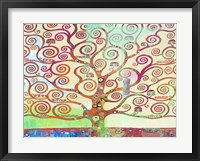 Framed Klimt's Tree 2.0