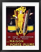 Framed La Maison du Porte-Plume, 1924