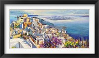 Thira Framed Print