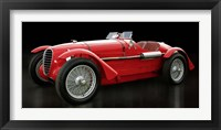 Framed Vintage Italian Race Car