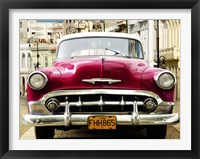 Framed Classic American Car in Habana, Cuba