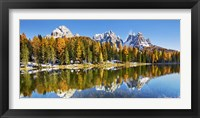Framed Lago Antorno and Misurina, Dolomites, Italy