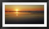 Framed Sunset Impression, Taranaki, New Zealand