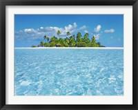 Framed Tropical Lagoon with Palm Island, Maldives