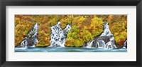Framed Hraunfossar Waterfall, Iceland