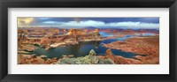 Framed Alstrom Point at Lake Powell, Utah, USA