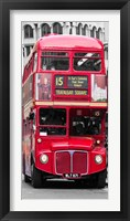 Framed Double-Decker Bus, London