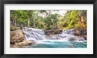 Framed Kuang Si Falls, Luang Prabang,  Laos