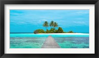 Framed Jetty and Maldivian island